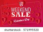 sale discount banner for... | Shutterstock .eps vector #571995520