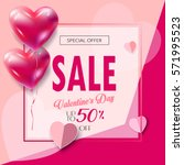 sale discount banner for... | Shutterstock .eps vector #571995523