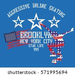 american flag color and... | Shutterstock .eps vector #571995694