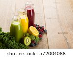 Fresh Smoothies With Fruits An...