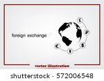 globe and money icon vector eps ... | Shutterstock .eps vector #572006548