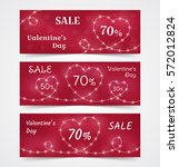 happy valentine's day banners... | Shutterstock .eps vector #572012824