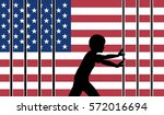 open border to fortress usa.... | Shutterstock . vector #572016694