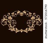 gold vintage baroque ornament... | Shutterstock .eps vector #572016790