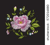 embroidery colorful floral... | Shutterstock .eps vector #572016880