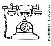 sketch of retro phone isolated...