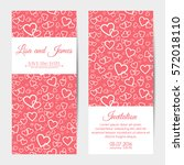 vertical wedding invitations ... | Shutterstock . vector #572018110