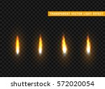 fire flames set isolated... | Shutterstock .eps vector #572020054