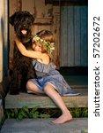 portrait of beautifull girl and ... | Shutterstock . vector #57202672
