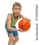 little boy 9 years old with... | Shutterstock . vector #572029564