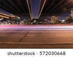 Small photo of light motion underneath highway