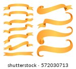 ribbon banners isolated on... | Shutterstock .eps vector #572030713
