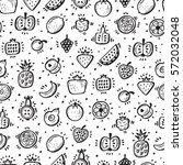 food background. doodle fruits... | Shutterstock .eps vector #572032048
