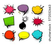 empty comic collection colored... | Shutterstock .eps vector #572032663