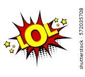 positive lettering comic text... | Shutterstock .eps vector #572035708