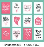 collection of a lovely greeting ... | Shutterstock .eps vector #572037163