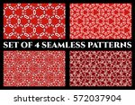 set of 4 abstract seamless... | Shutterstock .eps vector #572037904