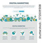 digital marketing. concept for...   Shutterstock .eps vector #572039308