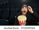 omg  young bearded man looking... | Shutterstock . vector #572039560