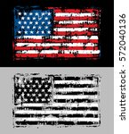Distressed Grunge American Flag