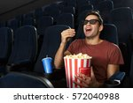 cinema technologies. handsome... | Shutterstock . vector #572040988