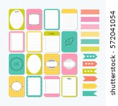 template for notebooks. cute... | Shutterstock .eps vector #572041054