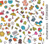 doodle children background.... | Shutterstock .eps vector #572041060