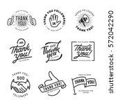 thank you followers labels set. ... | Shutterstock .eps vector #572042290