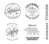 california related t shirt... | Shutterstock .eps vector #572042308
