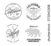 california related t shirt... | Shutterstock .eps vector #572042308