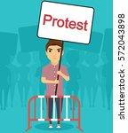 concept manifestations of civil ... | Shutterstock .eps vector #572043898