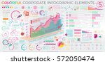 colorful corporate infographic... | Shutterstock .eps vector #572050474