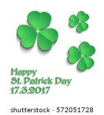 st.patrick's day shamrock green ...   Shutterstock .eps vector #572051728