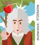 great english scientist... | Shutterstock .eps vector #572056546