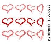 hearts  valentine's day | Shutterstock .eps vector #572057113