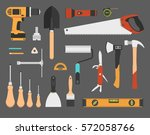 hand work tools set. isolated... | Shutterstock .eps vector #572058766