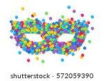 colorful round confetti vector... | Shutterstock .eps vector #572059390