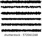 set of grunge brush strokes   | Shutterstock .eps vector #572061268