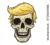 The skull of Donald Trump. Vector illustration.