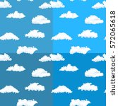 seamless pattern of clouds on... | Shutterstock .eps vector #572065618