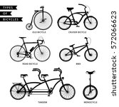 types of bicycle  road bicycle  ... | Shutterstock .eps vector #572066623
