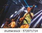 Small photo of Novi Sad, Blockstock Festival - May 28th: Bass guitar player of Serbian ska punk band Samostalni Referentiperforming on Blockstock Festival 2016 held in Novi Sad, Serbia