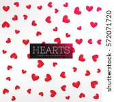 Red Hearts Pattern Background