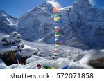 view from kala pathar on... | Shutterstock . vector #572071858