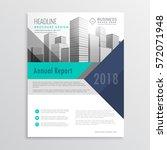 blue brochure flyer design... | Shutterstock .eps vector #572071948