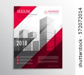 abstract brochure flyer design... | Shutterstock .eps vector #572072014
