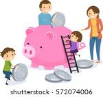 stickman illustration of a... | Shutterstock .eps vector #572074006