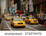 new york taxi. nyc. usa | Shutterstock . vector #572075470