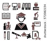 learning icon set | Shutterstock .eps vector #572082154