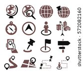 location  place icon set | Shutterstock .eps vector #572082160